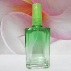 Molded Bottle PE Sprayer 50 ml Square: GREEN