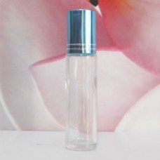 Roll-on Glass Bottle 10 ml Clear: TURQUOISE