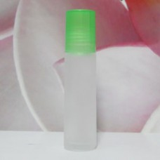 Roll-on Glass Bottle 10 ml Frosted PE Cap: GREEN