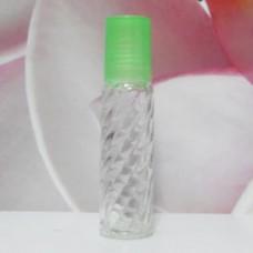 Roll-on Glass Bottle 10 ml Screw PE Cap: GREEN