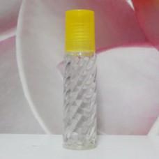 Roll-on Glass Bottle 10 ml Screw PE Cap: YELLOW