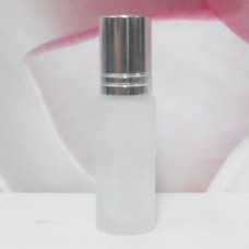 Roll-on Glass Bottle 4 ml Frosted: SILVER