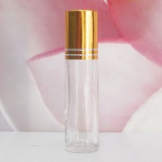 Roll-on Glass Bottle 8 ml Frosted: GOLD