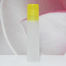 Roll-on Glass Bottle 8 ml Frosted PE Cap: YELLOW