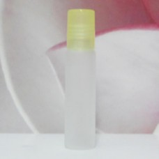 Roll-on Glass Bottle 8 ml Frosted PE Cap: YELLOW LIGHT