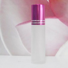 Roll-on Glass Bottle 8 ml Frosted: PINK