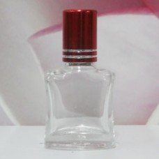 Roll-on Glass Bottle 8 ml Square: RED