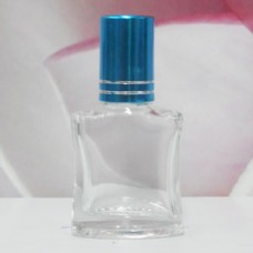 Roll-on Glass Bottle 8 ml Square: TURQUOISE