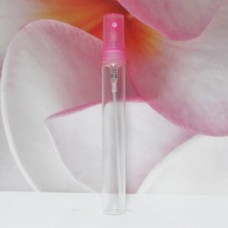Tube Glass 8 ml Clear with PE Sprayer: PINK